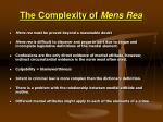 the complexity of mens rea
