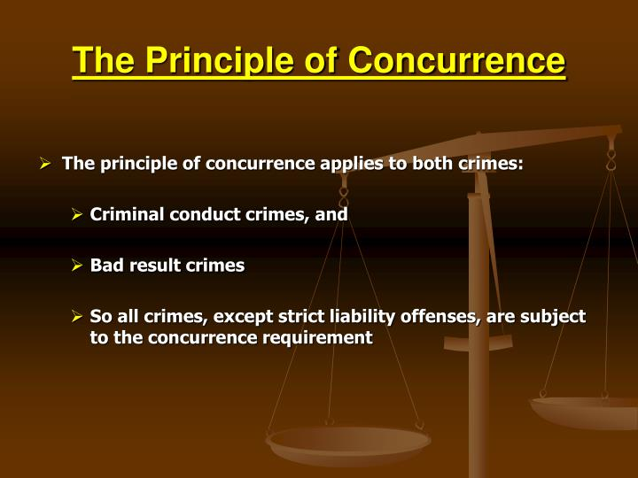The Principle of Concurrence