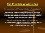 the principle of mens rea