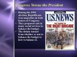 congress versus the president
