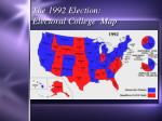 the 1992 election electoral college map