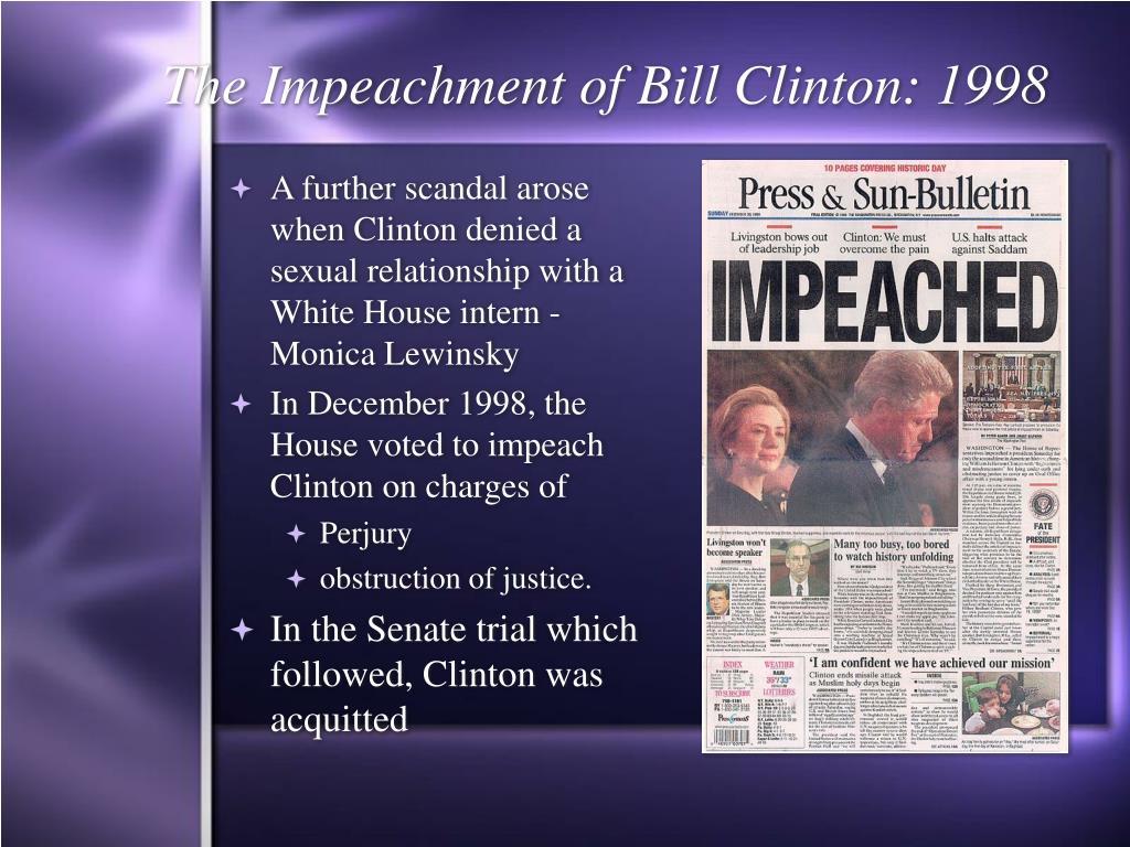 The Impeachment of Bill Clinton: 1998