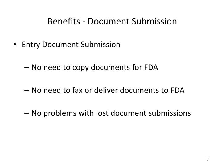 Benefits - Document Submission