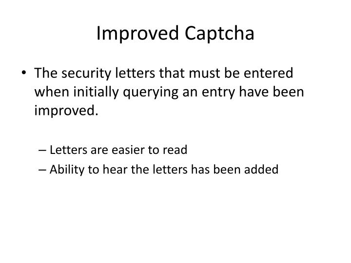 Improved Captcha