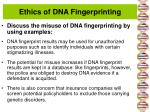 ethics of dna fingerprinting