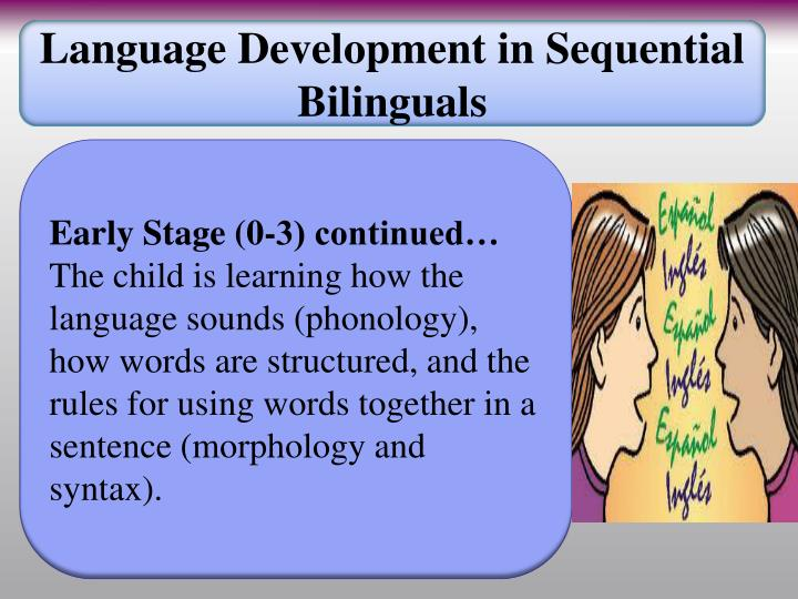 Language Development in Sequential Bilinguals