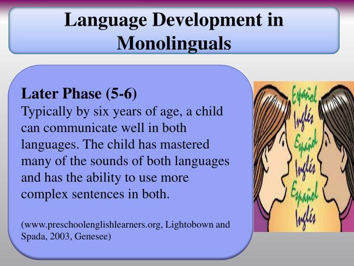 Language Development in Monolinguals