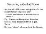becoming a god at rome14