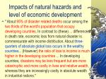 impacts of natural hazards and level of economic development13