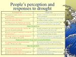 people s perception and responses to drought