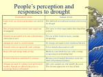 people s perception and responses to drought45