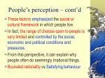 people s perception cont d24