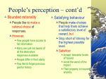 people s perception cont d25