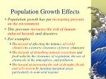 population growth effects