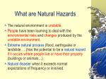 what are natural hazards