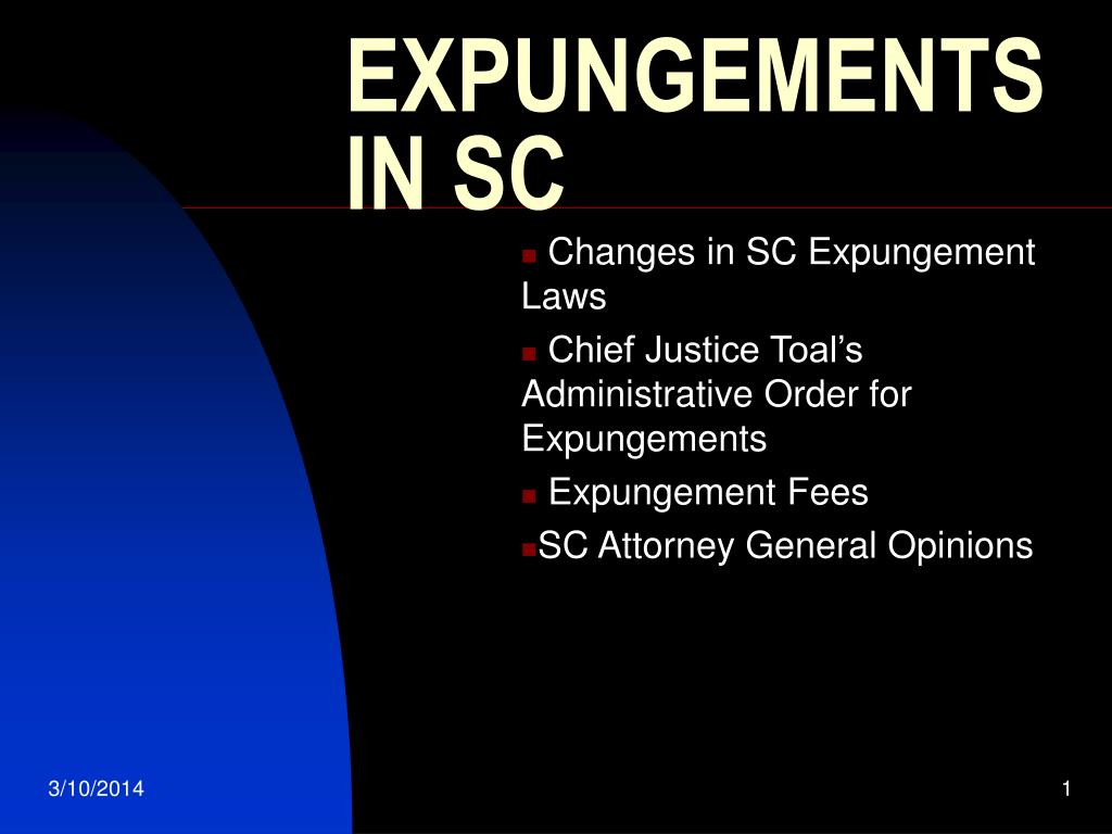expungements in sc