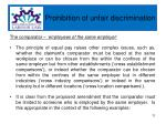 prohibition of unfair discrimination8