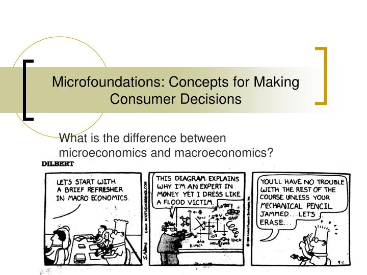 microfoundations concepts for making consumer decisions