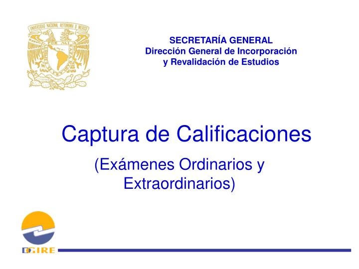 Captura de calificaciones