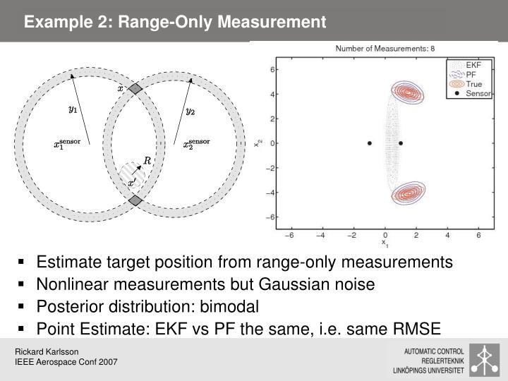 Example 2: Range-Only Measurement