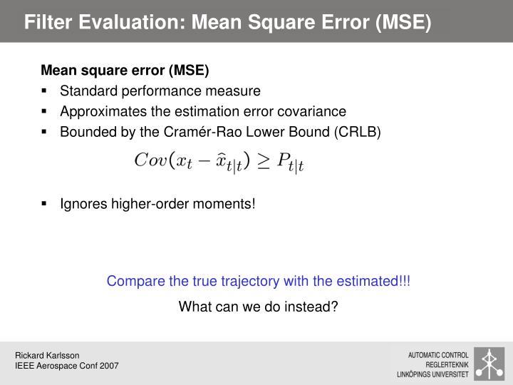 Filter Evaluation: Mean Square Error (MSE)