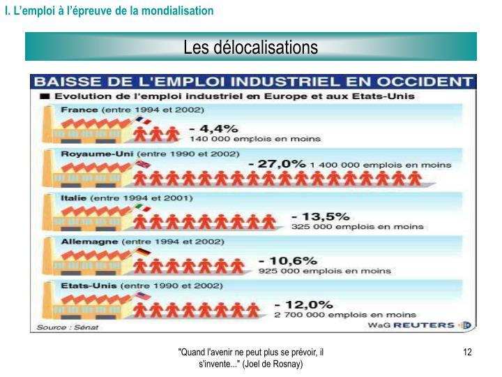 I. L'emploi à l'épreuve de la mondialisation