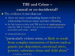 tbi and crime causal or co incidental