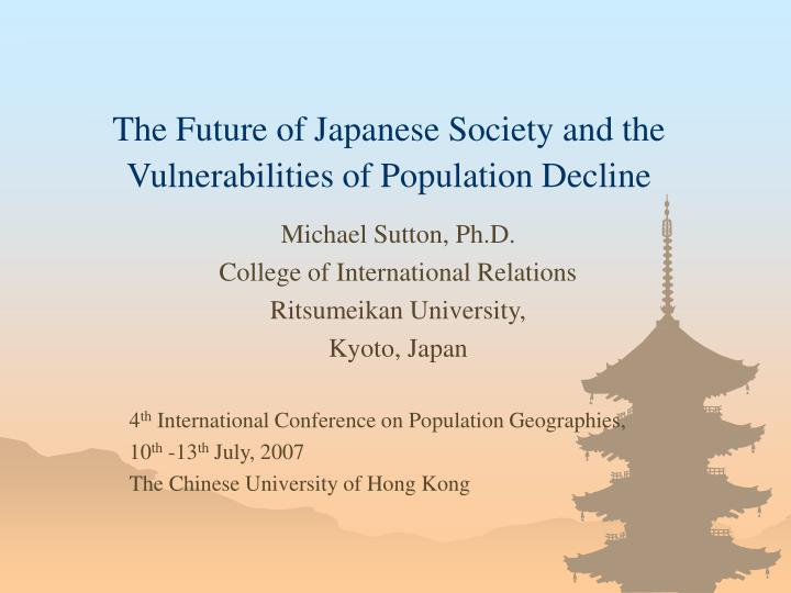 the future of japanese society and the vulnerabilities of population decline n.