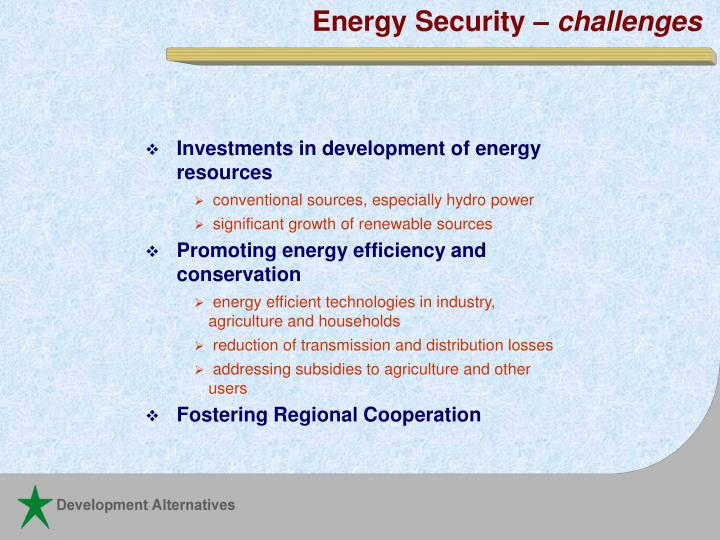 Energy Security –
