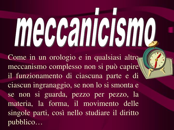 meccanicismo