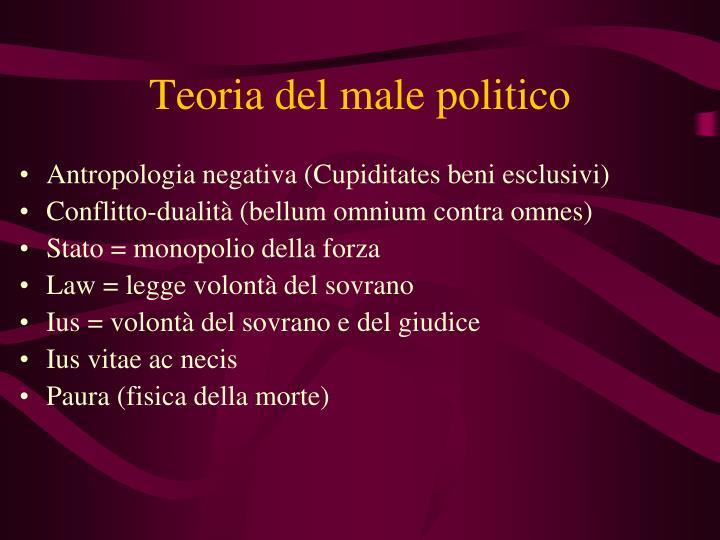 Teoria del male politico