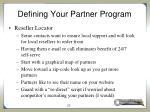 defining your partner program15