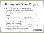 defining your partner program16