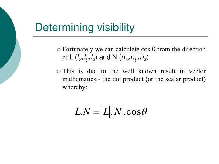 Determining visibility