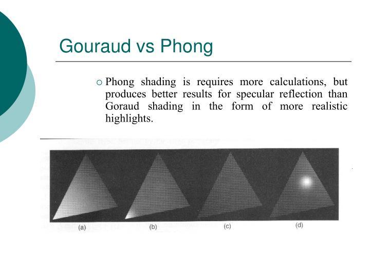 Gouraud vs Phong
