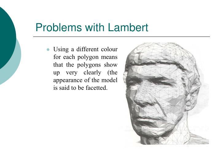 Problems with Lambert