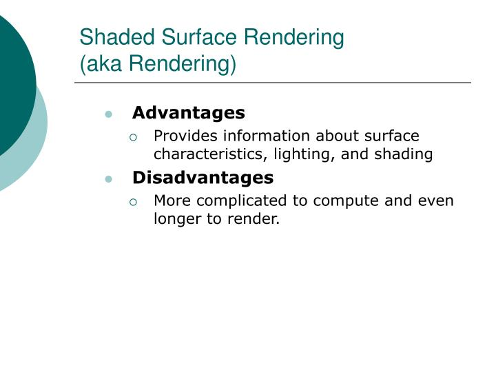 Shaded Surface Rendering