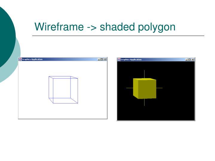 Wireframe -> shaded polygon