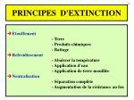 principes d extinction
