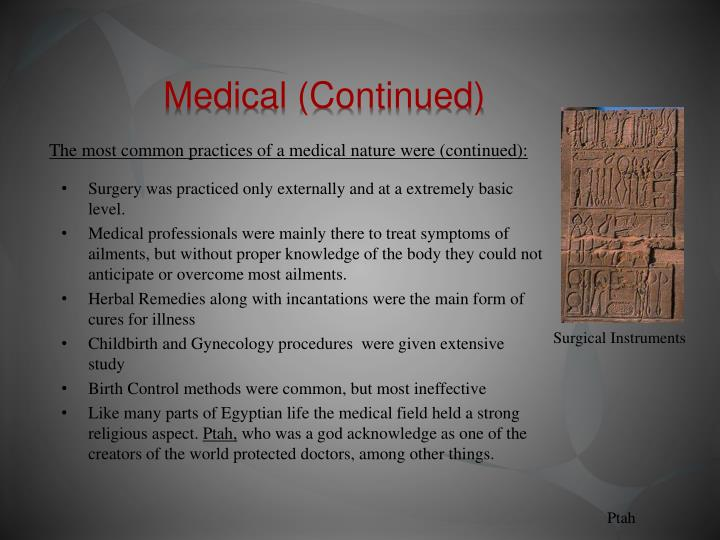 Medical (Continued