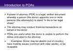 introduction to poas