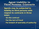 agent liability to third persons contracts