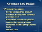 common law duties1