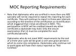 moc reporting requirements