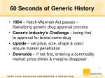 60 seconds of generic history