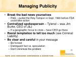 managing publicity