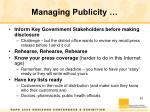 managing publicity1
