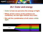 25 1 color and energy
