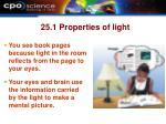 25 1 properties of light