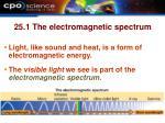 25 1 the electromagnetic spectrum